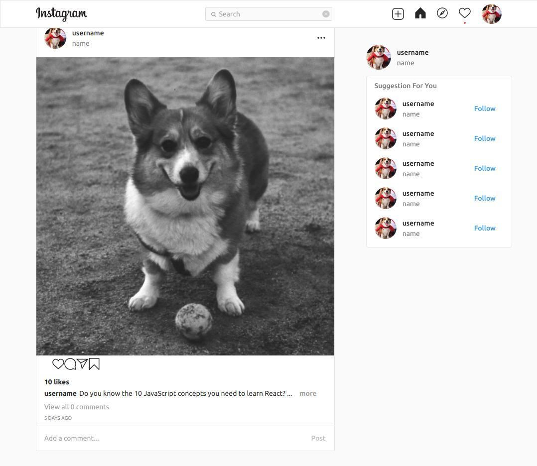 Build an Instagram Clone with React